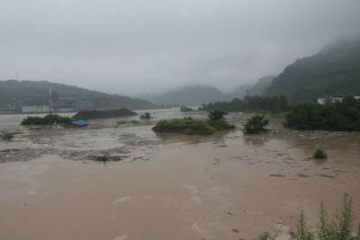 [广元]旺苍洪水淹没房屋