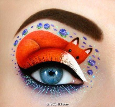 用动物形象来绘制眼影