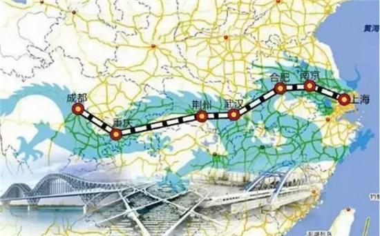 上海至成都沿江高铁提上日程 串联长江沿线22城市