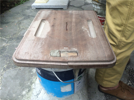 废旧机麻改造成桌子