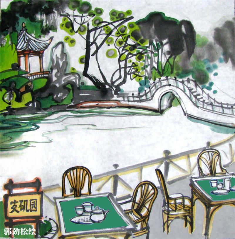 画家手绘成都地铁4号线