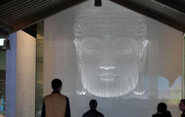 南京大报恩寺遗址重现千年琉璃塔
