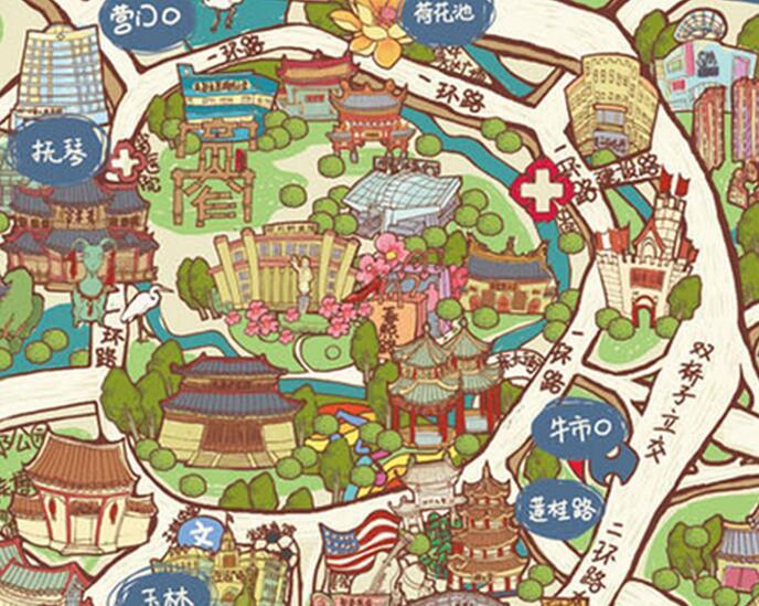 成都免费手绘地图来了