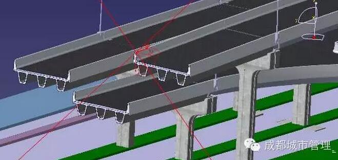 二环路高架桥永丰立交桥段bim模型剖切查看的效果