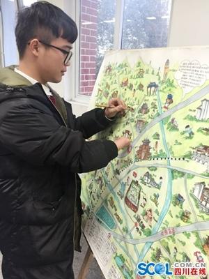 四川 正文  由于受到手绘地图出版的鼓励