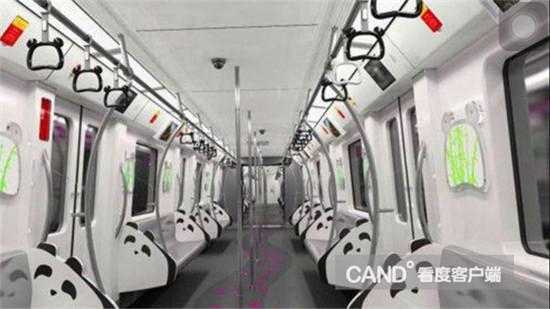 在主题列车设计上,成都地铁首次对车厢拉环,看板,立柱,座椅挡板等部位