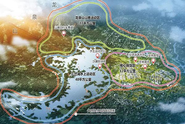 天府奥体城规划图-蓉平 奥体城开建,成都一不小心暴露了 世界野心