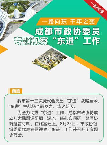 """【一路向东 千年之变】成都市政协委员专题视察""""东进""""工作"""