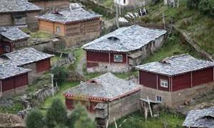 中国石板村落