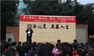 弘扬宪法精神 太平寺西区小学开展法制宣传教育活动