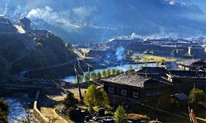中国石板藏寨-扎宗村