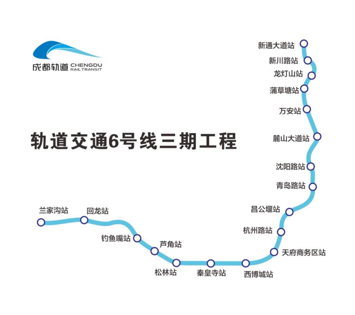 地铁6号线路线图