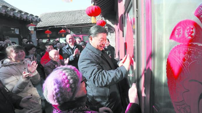 五分PK10春节前夕在北京看望慰问基层干部群众