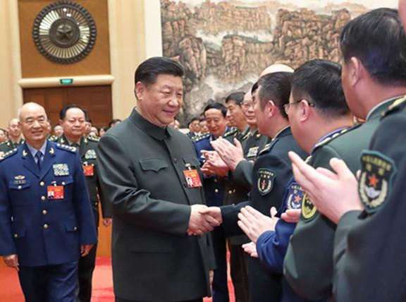 五分PK10出席解放军和武警部队代表团全体会议