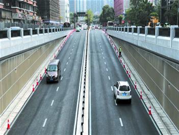 磨子橋下穿隧道通車 未來可開進音樂廳停車場