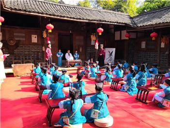 央視《傳奇中國節》走進平樂古鎮文化課堂