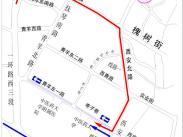 注意!4月29日至5月29日 青羊东一路枣子巷路段机动车单行
