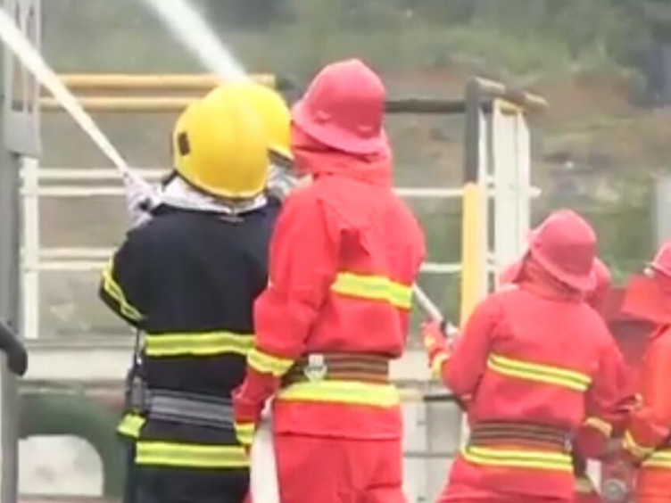双盲演练进行时!模拟油库着火 提升应急处置能力