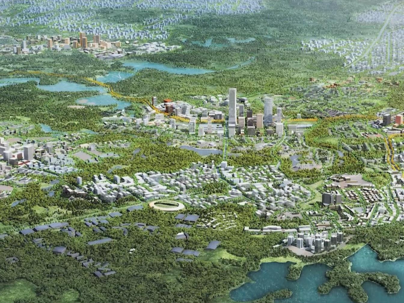 加快东进步伐 努力建设以可持续为目标的未来之城