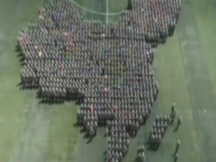 燃!各地高校军训花式表演 祝福新中国