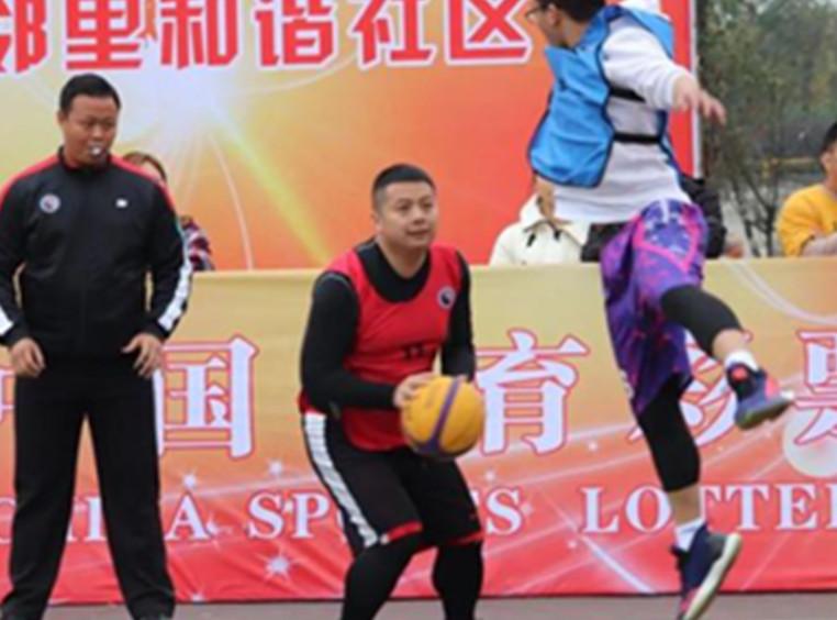 74场比赛 100余名运动员 都江堰上演激情3V3篮球赛