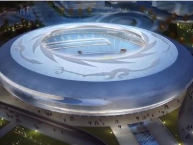 大运会主场馆建设进入主体钢结构施工
