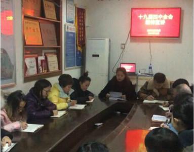 肖家河街道正街社区党委组织全体工作人员学习十九届<font color=red>四中</font>全会精神