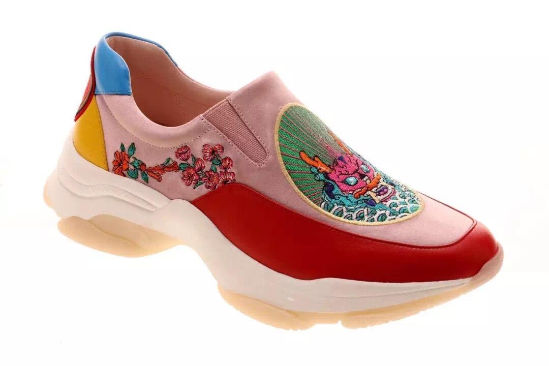"""sheme""""神秘与传奇""""中国游龙刺绣运动鞋"""
