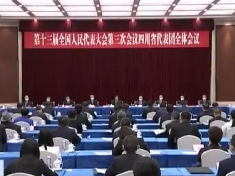 四川代表团举行全体会议  审议各项决议草案和有关建议表决稿
