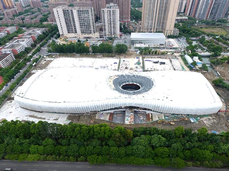 """大运会新场景""""连体双馆"""" 香城体育中心6月底全面竣工"""