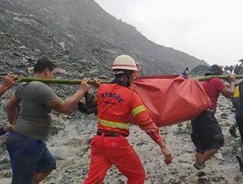 缅甸帕敢翡翠矿区塌方 已致146人遇难