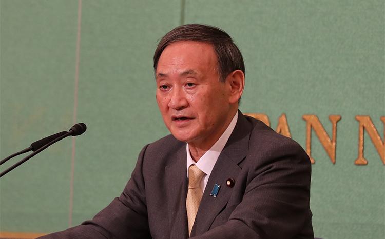 菅义伟当选<font color=red>日本</font>自民党总裁 将被指名为新任首相