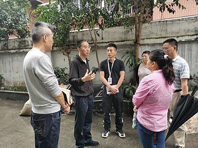 罗建同志到成都高新区肖家河街道永丰社区走访调研文明城市迎检工作