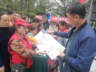 成都高新区肖家河街道兴蓉社区组织开展社会公众满意度测评宣传活动