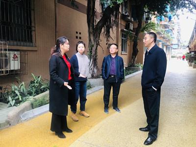 罗建到成都高新区肖家河街道正街社区指导社区特色街区打造工作