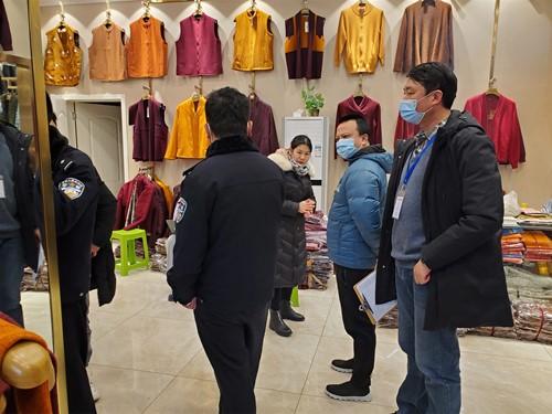 成都高新区肖家河街道兴蓉社区开展一环路南四段商铺信息采集工作