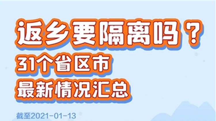 春节返乡需要隔离吗?31个省市区最新情况汇总
