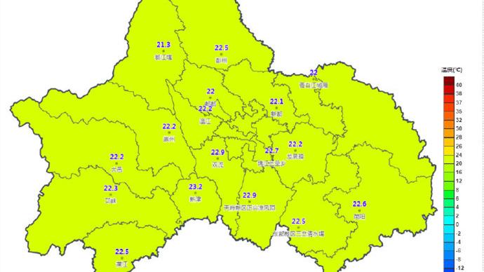 四川陕西等地局地有大暴雨 成都早晚有分散阵雨